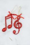 Nota di musica, fondo di Christmass Fotografie Stock Libere da Diritti