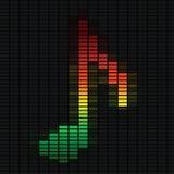 Nota di musica sull'equalizzatore Fotografia Stock Libera da Diritti