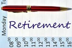 Nota di pensionamento Fotografia Stock