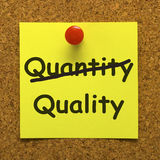Nota di qualità che mostra prodotto eccellente Immagine Stock Libera da Diritti