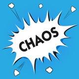 Nota di scrittura che mostra caos La foto di affari che montra le regole non seguenti complete di confusione e di disordine è con illustrazione vettoriale