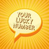 Nota di scrittura che mostra il vostro Lucky Number Foto di affari che montra credere nel casinò di probabilità di aumento di for illustrazione vettoriale
