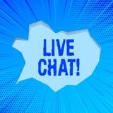 Nota di scrittura che mostra Live Chat Foto di affari che montra conversazione sulla comunicazione su mezzi mobili di multimedia  royalty illustrazione gratis