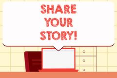 Nota di scrittura che mostra a parte la vostra storia Foto di affari che montra memoria di nostalgia di esperienza personale illustrazione di stock