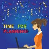 Nota di scrittura che mostra tempo per progettare La foto di affari che montra esercitando il controllo cosciente ha speso su spe illustrazione vettoriale