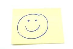 Nota di Stickey del fronte di smiley Immagine Stock Libera da Diritti