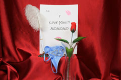 Nota do amor Imagem de Stock Royalty Free
