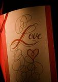 Nota do amor Foto de Stock