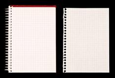 Nota do caderno e do papel Imagem de Stock