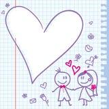 Nota do casamento Imagens de Stock Royalty Free