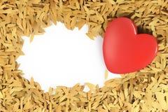 Nota do dia de Valentim Foto de Stock
