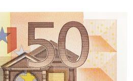 Nota do euro 50 Foto de Stock Royalty Free