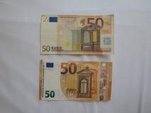 nota do euro 50, União Europeia Fotografia de Stock Royalty Free