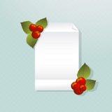 Nota do Natal Imagem de Stock