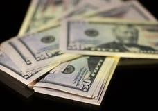Nota do papel moeda 50 dólares de EUA Foto de Stock