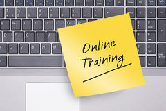 Nota do treinamento em linha no teclado Imagem de Stock Royalty Free