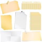 nota document vector Stock Foto