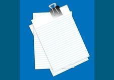 nota documenten stock illustratie