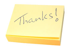 Nota dos agradecimentos imagens de stock