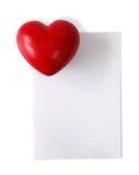 Nota e cuore in bianco immagini stock libere da diritti