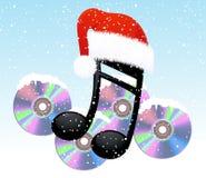 Nota e disco do Natal Imagens de Stock Royalty Free