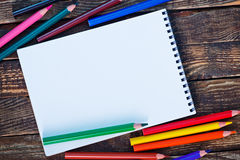 Nota e lápis Imagem de Stock Royalty Free