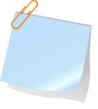 Nota e paperclip inviati Immagini Stock