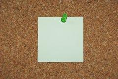 Nota en blanco Foto de archivo libre de regalías