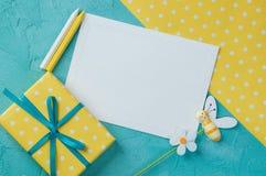 Nota en blanco blanca Fotos de archivo libres de regalías