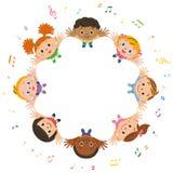 Nota en kindvergadering vector illustratie