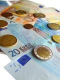 Nota euro Fotos de archivo libres de regalías