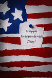 Nota felice di festa dell'indipendenza Immagini Stock Libere da Diritti