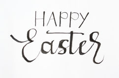 Nota feliz manuscrita de Pascua Fotos de archivo libres de regalías