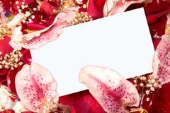 Nota floral Foto de archivo libre de regalías