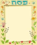 Nota floreale di pesach illustrazione di stock