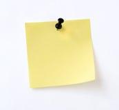 Nota gialla isolata fotografie stock