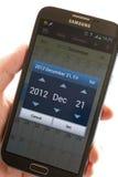 NOTA II della GALASSIA di Samsung Smartphone Immagine Stock Libera da Diritti