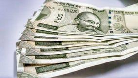 Nota india de Rs de la moneda 500 foto de archivo