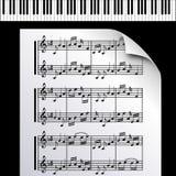Nota-Melodía de la Piano-Música ilustración del vector