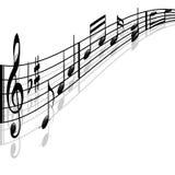 Nota-Melodia di musica Fotografia Stock