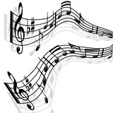 Nota-Melodia di musica Fotografia Stock Libera da Diritti
