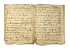 Nota musical Fotos de archivo