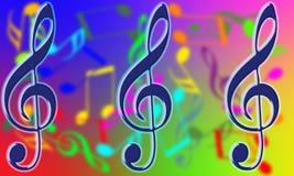 Nota musical Imagens de Stock