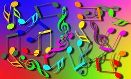 Nota musical Imagem de Stock Royalty Free