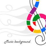 Nota musical abstrata no branco Imagens de Stock