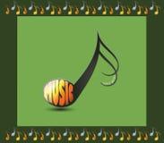 Nota musical con la palabra MÚSICA Imágenes de archivo libres de regalías