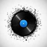 Nota musical del disco ilustración del vector
