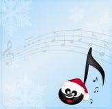 Nota musical engraçada Fotografia de Stock Royalty Free
