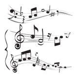 Nota musical La clave de sol del personal observa imágenes exhaustas del garabato del concepto de la mano muzician del vector stock de ilustración