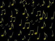 Nota musical sobre el papel pintado negro de la pantalla Foto de archivo libre de regalías
